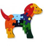 """Number Dog Wooden Jigsaw Puzzle"""