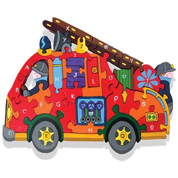 """Alphabet Fire Engine Jigsaw"""