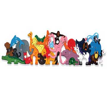 """Alphabet Zoo Wooden Jigsaw Puzzle"""