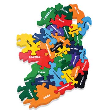 """Map of Ireland Wooden Jigsaw Puzzle"""