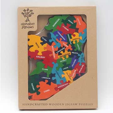 Handmade Map Of Ireland Wooden Jigsaw Puzzle For Children Aged - Us jigsaw map wood