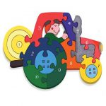 """Number Tractor Wooden Jigsaw"""