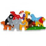 """Zoo Animal Number Wooden Jigsaw"""