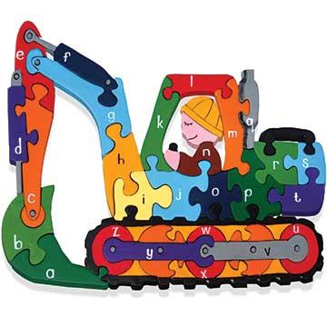 """""""Alphabet Digger Wooden Jigsaw"""""""