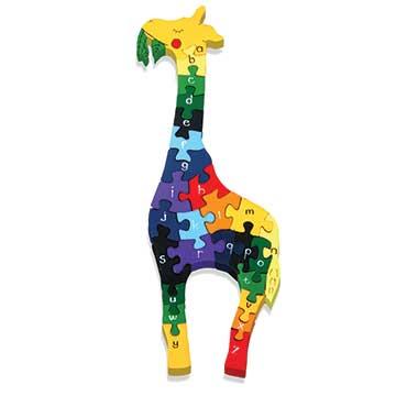 """""""Alphabet Giraffe Wooden Jigsaw"""""""