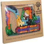 """""""Digger Alphabet Wooden Jigsaw Puzzle"""""""