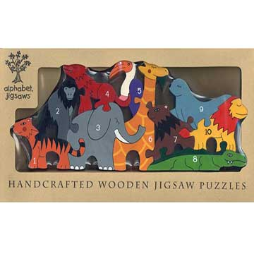 """Zoo Number Wooden Jigsaw Puzzle"""